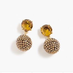Pavé resin clip-on earrings